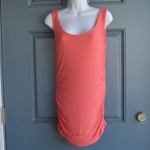 * Coral Maternity Cinched Tank by Pip/Vine Sz. M.